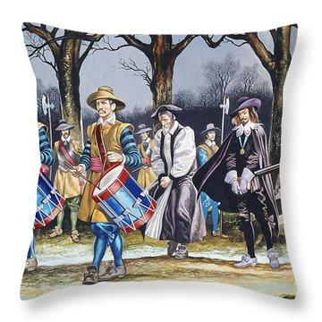 Charles I's Last Walk  Throw Pillow by Ron Embleton