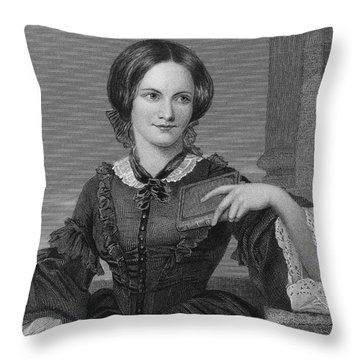 Charlotte BrontË Throw Pillow by Granger