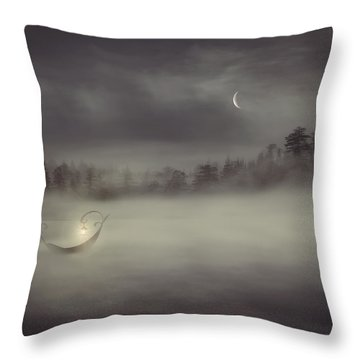 Charon's Boat Throw Pillow by Lourry Legarde