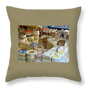 Cheese For Sale Throw Pillow by Carla Parris