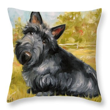 Chester Throw Pillow by Mary Sparrow