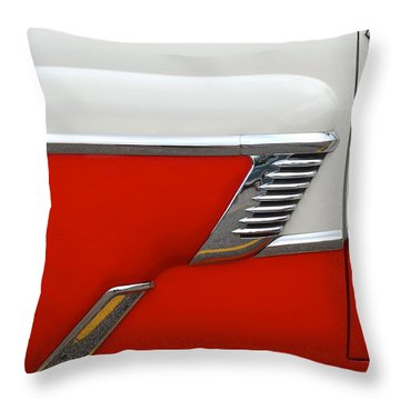 Chevy Door Throw Pillow by Frozen in Time Fine Art Photography