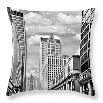 Chicago Lasalle Street Throw Pillow by Christine Till