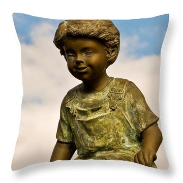 Child In The Clouds Throw Pillow by Al Powell Photography USA