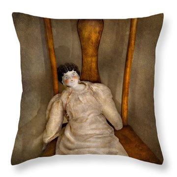 Children - Toy - Her Royal Highness  Throw Pillow by Mike Savad