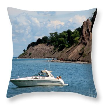 Chimney Bluffs On Lake Ontario Throw Pillow by Rose Santuci-Sofranko