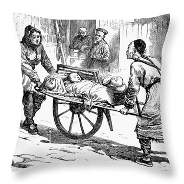 China: Famine, 1877 Throw Pillow by Granger