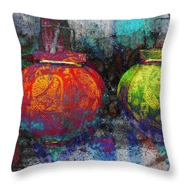 Chinese Lanterns Throw Pillow by Skip Nall
