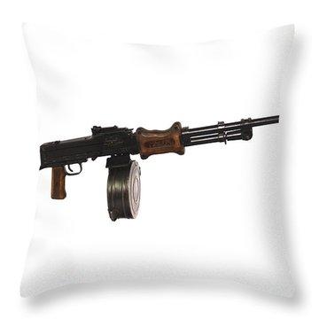 Chinese Type 56 Light Machine Gun Throw Pillow by Andrew Chittock