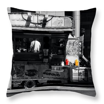 Chip Wagon Throw Pillow by Andrew Fare