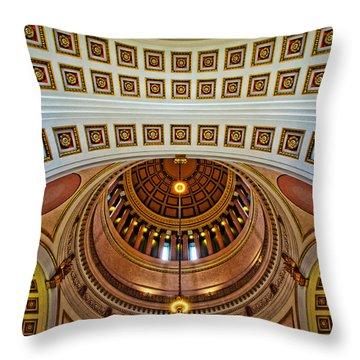 Chiseled Throw Pillow by Dan Mihai