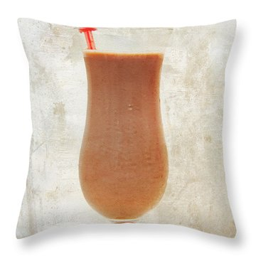 Chocolate Milk With Cherries On Top Throw Pillow by Andee Design