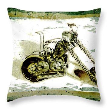 Chopper 1 Throw Pillow by Mauro Celotti