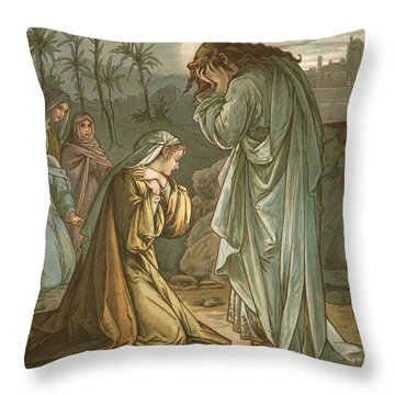 Christ In The Garden Of Gethsemane Throw Pillow by John Lawson