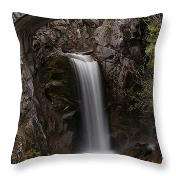 Christine Falls Serenity Throw Pillow by Mike Reid