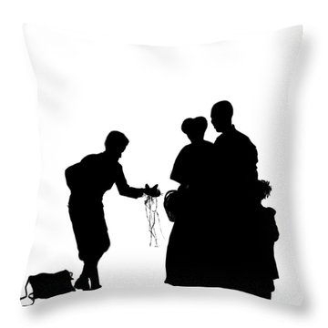 Christmas Gift - A Silhouette 1a Throw Pillow by Reggie Duffie