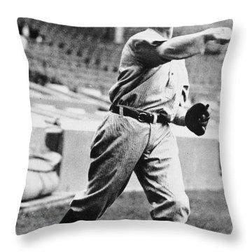 Christopher Mathewson Throw Pillow by Granger