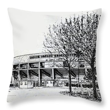 Cincinnati Reds/al Lopez Stadium Tampa Florida Throw Pillow by Frank Hunter