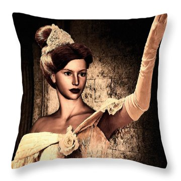Cinderella Throw Pillow by Lourry Legarde