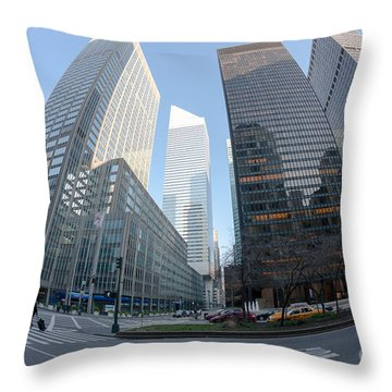 Citigroup Center From Park Avenue I Throw Pillow by Clarence Holmes