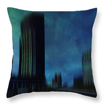 City Shapes Melbourne I Throw Pillow by Melanie Viola