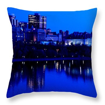 Cityscape Throw Pillow by Andre Faubert