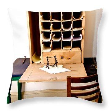 Civil War Desk Throw Pillow by Trish Tritz