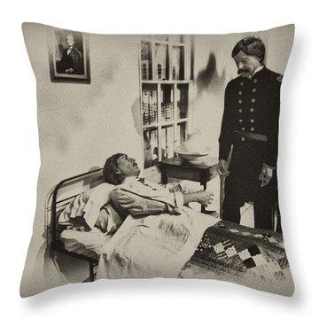 Civil War Hospital Throw Pillow by Bill Cannon