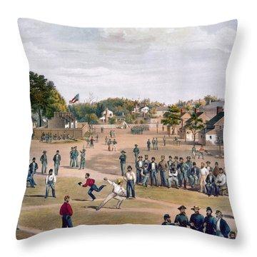 Civil War: Union Prisoners Throw Pillow by Granger