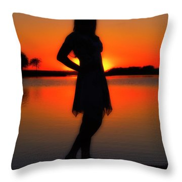 Claire Throw Pillow by Tamyra Ayles