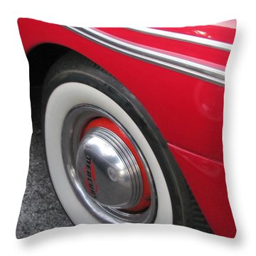 Classic Car Mercury Red 1 Throw Pillow by Anita Burgermeister