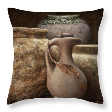 Clay Pottery I Throw Pillow by Tom Mc Nemar