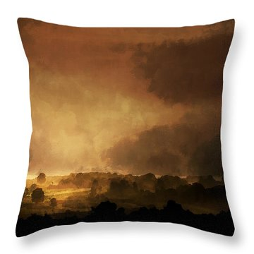 Clearing Storm Throw Pillow by Ron Jones