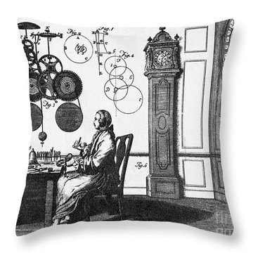 Clockmaker Throw Pillow by Science Source
