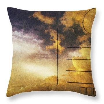 Cloud In Sunset On Postcard Throw Pillow by Setsiri Silapasuwanchai