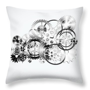 Cloud Made By Gears Wheels  Throw Pillow by Setsiri Silapasuwanchai