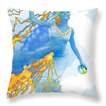 Cloudia Of The Clouds Throw Pillow by Seth Weaver