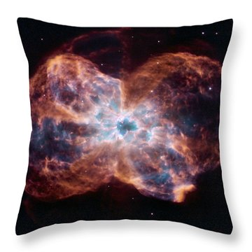 Clouds Of Gas And Debris Surround Throw Pillow by ESA and nASA