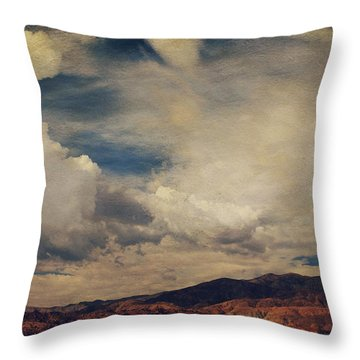 Clouds Please Carry Me Away Throw Pillow by Laurie Search