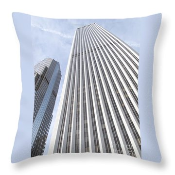 Cloudscraper Throw Pillow by Ann Horn