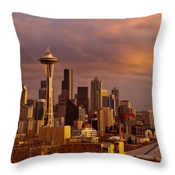 Cloudscrapers Throw Pillow by Dan Mihai