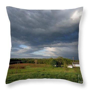 cloudy with a Chance of Paint 2 Throw Pillow by Trish Hale