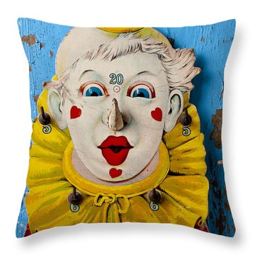 Clown Toy Game Throw Pillow by Garry Gay