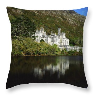 Co Galway, Kylemore Abbey Throw Pillow by The Irish Image Collection