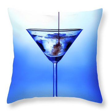 Cocktail Being Poured Throw Pillow by Jane Rix