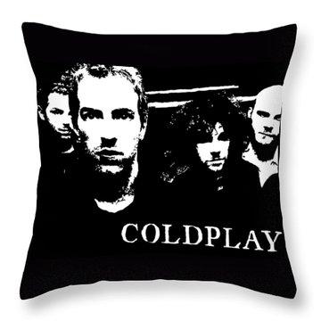 Coldplay Throw Pillow by Paula Sharlea
