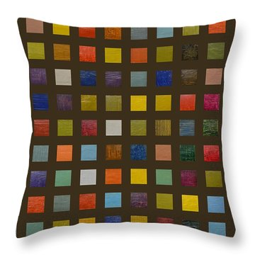 Collage Color Study Lll Throw Pillow by Michelle Calkins