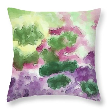 Color And Light In Monet's Garden Throw Pillow by Heidi Smith