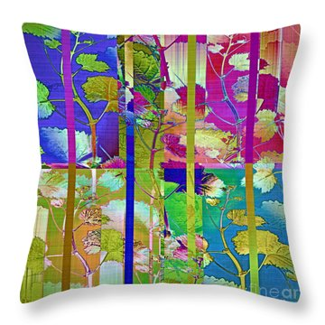Color Blind Throw Pillow by Gwyn Newcombe