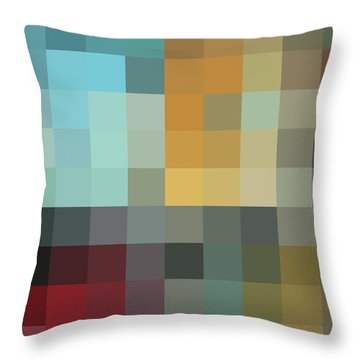 Color Blocking In The Maze II By Madart Throw Pillow by Megan Duncanson